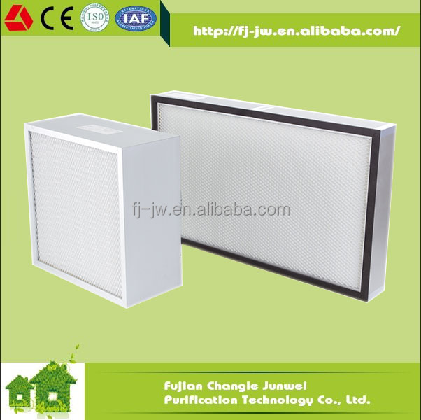 Fiberglass hepa air filter H13 H14, air filtration system ventilation use, air purifier for clean room / laboratory