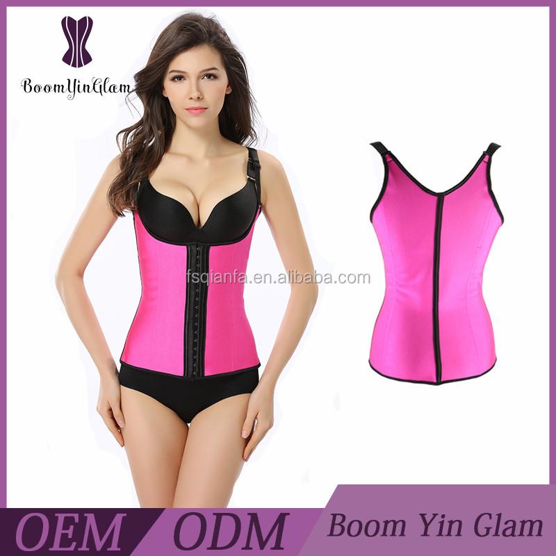 plus size waist trainer latex waist cincher,best corset colombian