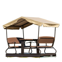 Adult poly wood double wooden swing seat