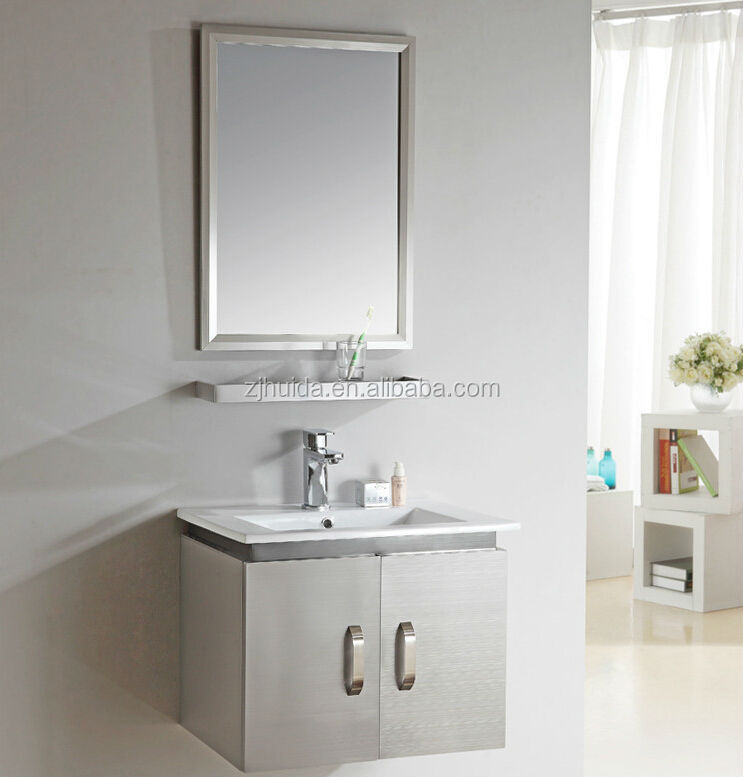 2016 Hot sell Stainless Steel modern Bathroom <strong>Cabinet</strong>