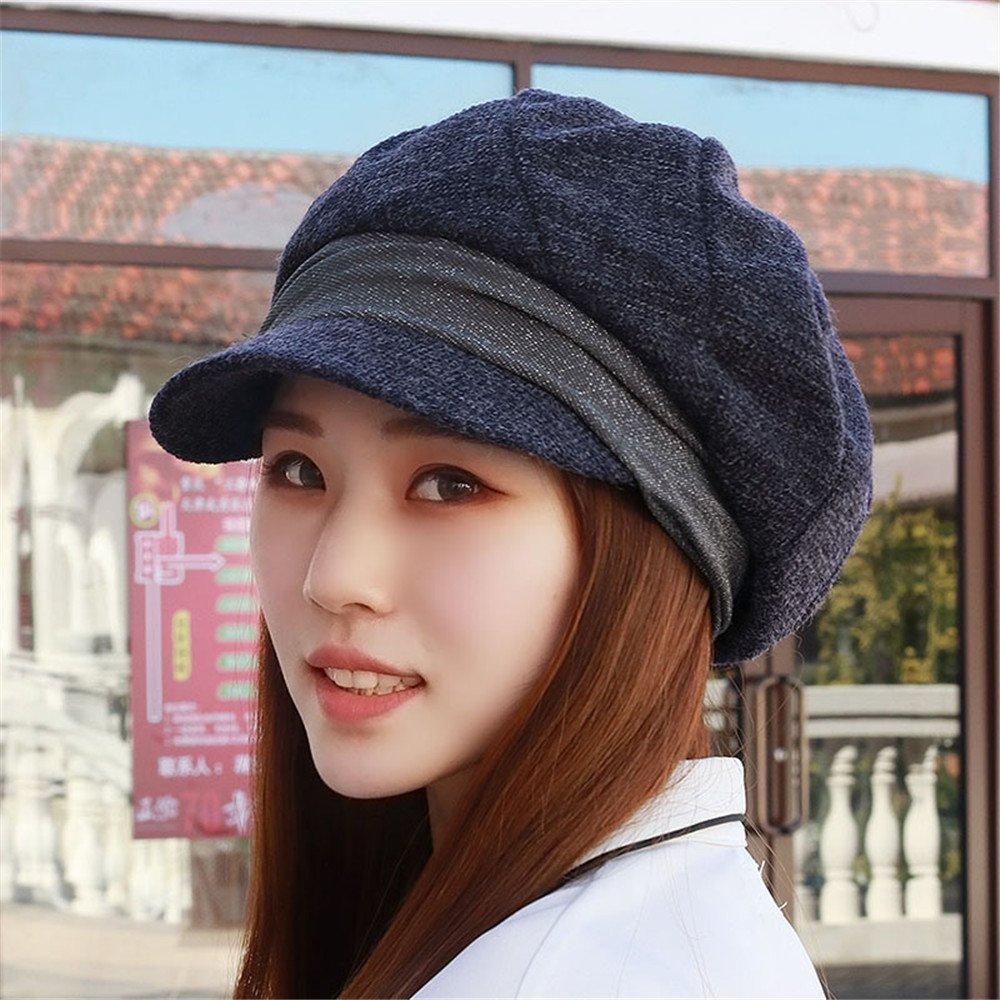 320fcc49655 Get Quotations · The children of autumn and winter fashion winter Women Hat  Beret hats octagonal cap England pumpkin