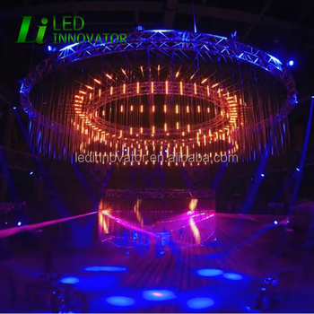 Nightclub And Stage Decorative DMX RGB Digital 3D Visual LED Tube With  Madmapper 3D Mapping