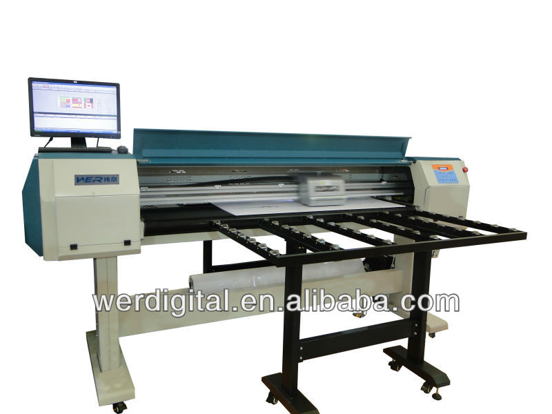 Cheap 3.2m width with 2pcs Dx5 heads WER-ES3202, Eco Printer with Flatbed