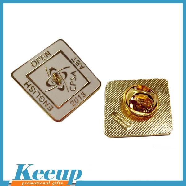 Custom Made Soft Enamel Metal Square Plate Lapel Pins Badges