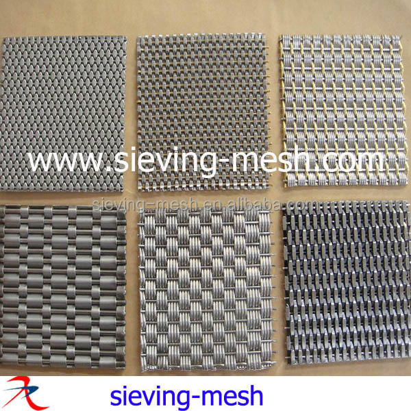 stainless steel architectural decorative wire mesh sheets metal woven crimped wire mesh - Decorative Wire Mesh