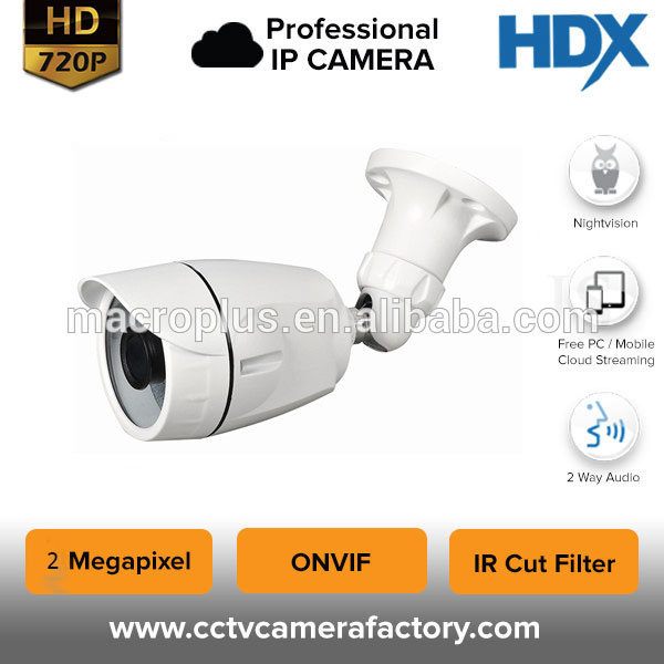 2017 factory small outdoor waterproof IP66 36 pcs led 1080P ip camera bullet with IR CUT