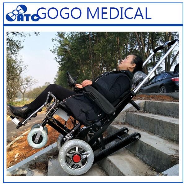2018 Gogo-hot Sell ! Rubber Track Electric Stair Climbing Wheelchair /  Carpet Evacuation Stretcher Wheelchair Stair Climber - Buy Electric Stair