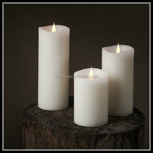 TECMO Ivory series battery operated with remote contral flameless moving wick wax LED candle
