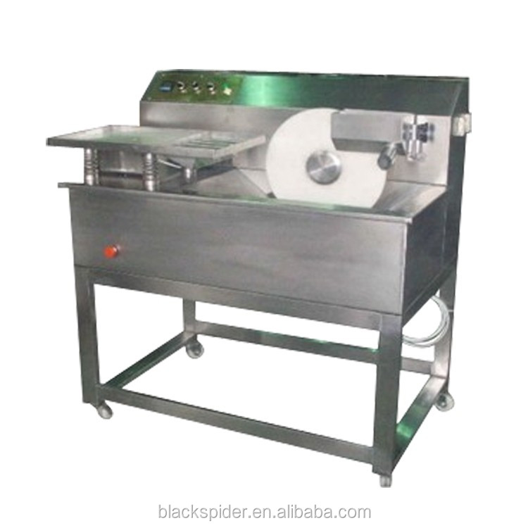 Small chocolate enrobing machine / chocolate enrober for sale / chocolate coating pan machine