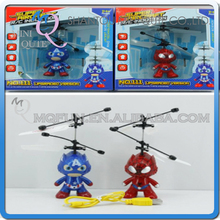 Mini Qute RC remote control Marvel avenger captain America spiderman flying Helicopter educational Electronic toys NO.TL614753