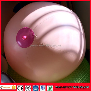 "Diameter 24"" Giant udder beach ball mamma inflatable ball inflatable breast ball"