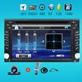 2 din universal Car Radio monitor Auto DVD Player USB GPS In dash Car PC Stereo