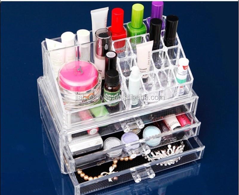 gros acrylique cosm tiques tiroir effacer plexiglas maquillage organisateur plexiglas. Black Bedroom Furniture Sets. Home Design Ideas