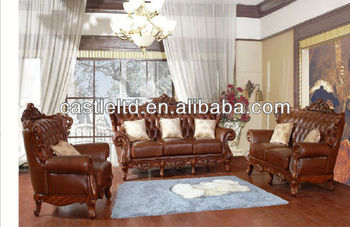 Euro Style Sofa Leather Living Room Leisure Set