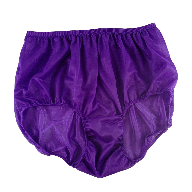 2ca822bb0386 Get Quotations · Light Purple Granny Panties Briefs Sheer Nylon Underwear  For Women & Men Plus Size