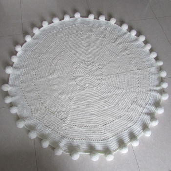Round Blankets Hand Crochet Throw Rug Custom Carved Rugs Woven Product On Alibaba Com