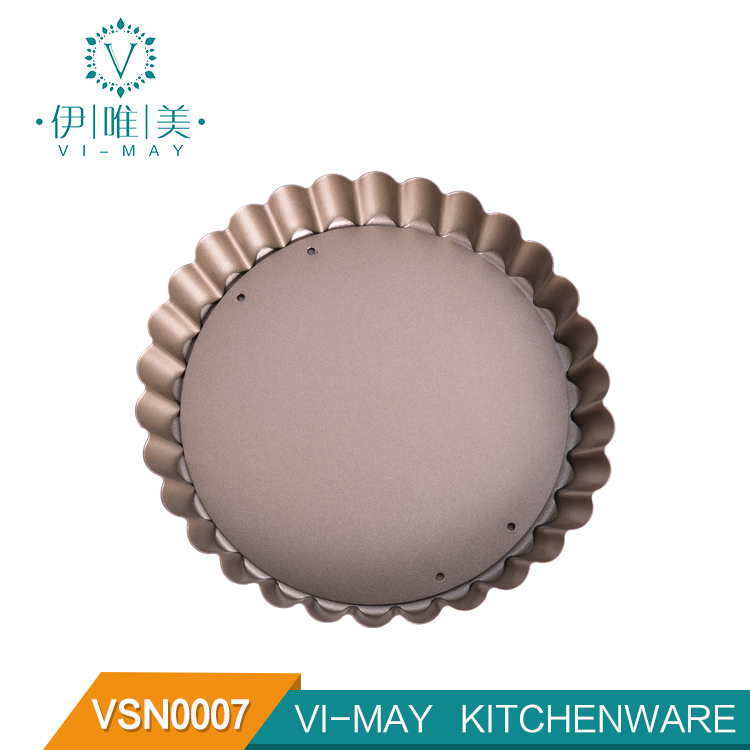 "4"" Non-Stick Carbon Steel Mini Tart Pans with Removable Bottom Round Pie Quiche Pan with Removable Base"