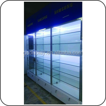Mall Wooden Retail Wall Display Cabinet