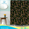 hook less polyester luxury shower curtain new design curtain