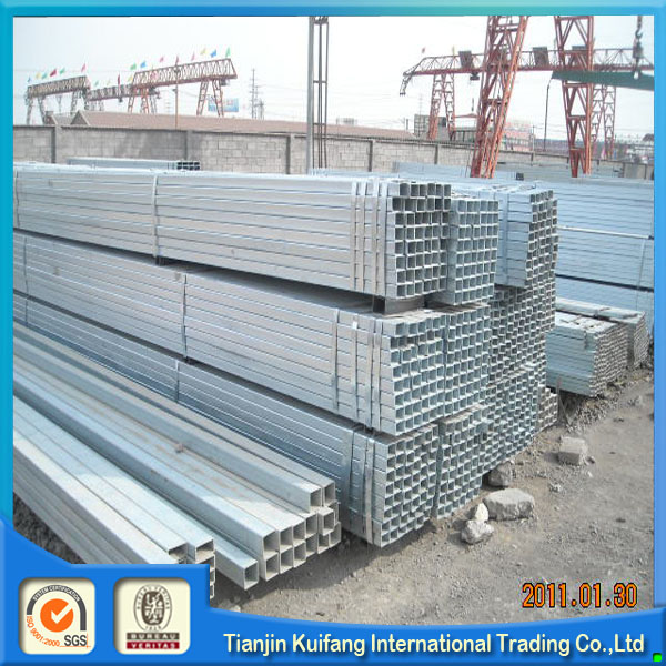 ms hollow steel pipe/galvanized vs hot dipped galvanized