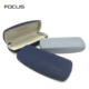 2 color factory wholesale custom size hard metal eyeglasses designer brand sunglasses case