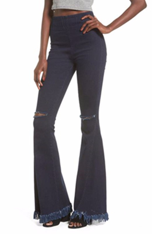 latest releases clearance prices on feet at 2019 New Fashion China Suppliers Good Price Bootcut Jeans Women Wholesale  Clothing Oem Frayed Bell Bottoms Flare Jeans - Buy Jeans Woman,Flare ...