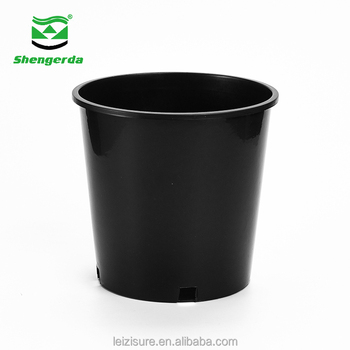 Pp Gallon Pot Black Plastic Nursery Potartificial Flowers Decoration Garden Planters And Pots