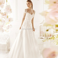 K1659A Alibaba new arrival sleeveless backless lace wedding dress long tail ball gowns for bridal