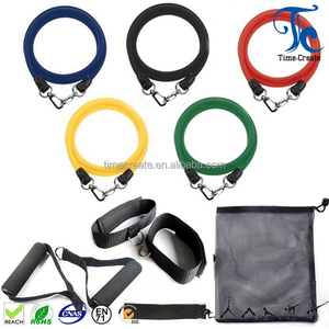 wholesale high elasticity hot sell 11 pcs resistance bands for different strength training