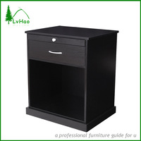 black color MDF end table with storage