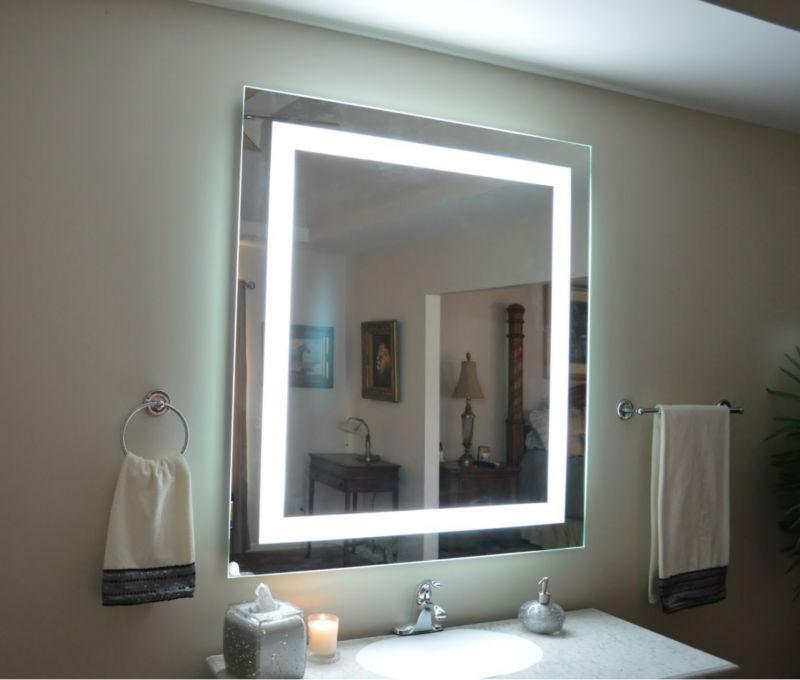 bao espejo sin niebla led espejo led de pared de luz espejo de bao