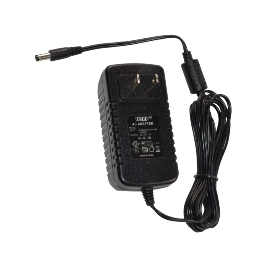 HQRP Power Cord/AC Adapter 12V 2A for SWANN PRO-580 - Multi-Purpose Day/Night Security Camera - Night Vision 65ft / 20m; SWPRO-580PK4 [UL Listed] Plus HQRP Euro Plug Adapter