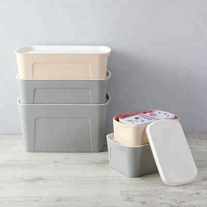 Large Storage Tote Heavy Duty Top Lid plastic Bin Container Box