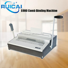 Office Equipment A4 Manual Comb Binding Machine / Binder Machine With Independent Cutter
