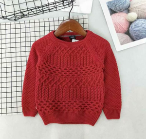 High Quality Kids Boys Girls Baby Sweatshirt Cable Knit Child Pullover Sweater Knitted Children's Winter Sweater