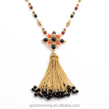2015 brand fashion trending cr designs black beads tassel cross 2015 brand fashion trending cr designs black beads tassel cross pendant long chain pendant necklace n2396 aloadofball Images