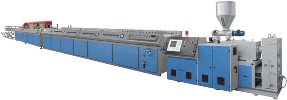 PP <strong>PE</strong>&wood Profile Extrusion line