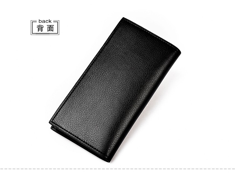 New Men Clutch Handbag Long Purse Leather Bifold Wallet