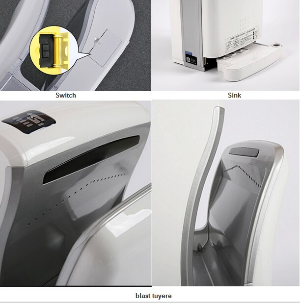 Quick Drying Wall Mounted Portable Hand Dryer for Toilet