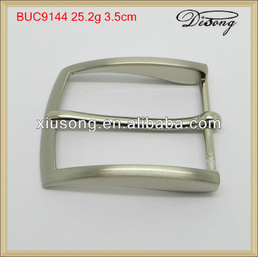 BUC9144 Classical Pure Silver Square Nonmetal Belt Buckle