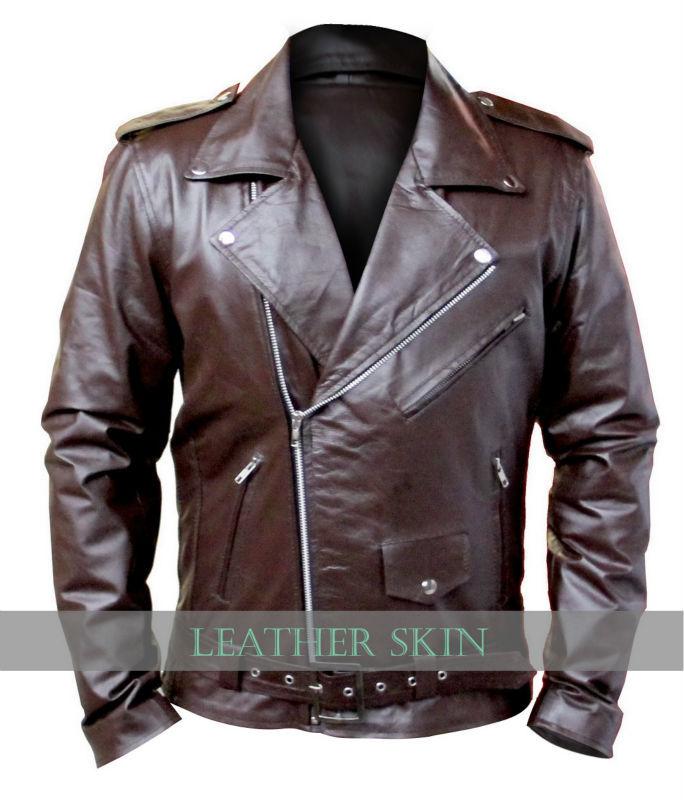 Nwt Men Brown Brando Motorcycle Biker Premium Genuine Pure Real ...