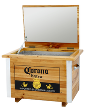 Tuin houten koelbox <span class=keywords><strong>ronde</strong></span> bier <span class=keywords><strong>koeler</strong></span> vat, houten ijsemmer, corona ijskoeler emmer
