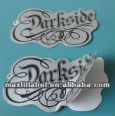 Custom China supplier die cut shape paper sticker hang tag