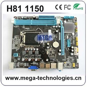 Oem インテル H81 マザーボード lga 1150 サポート I3 、 I5 、 I7 プロセッサ DDR3