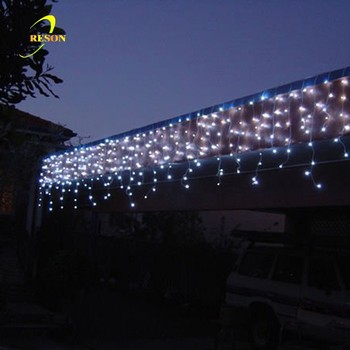custom length holiday decorative led icicle shaped lights