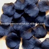 Black Silk Rose Petals Wedding Confetti