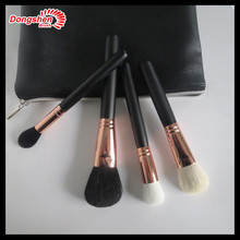 4pcs makeup brushes set with black PU bag, ultramodern brushes set,cosmetic brushes set