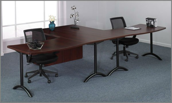 Eckschreibtisch für 2 personen  2 Person Desk. Person Wrap Around Glass Top Reception Desk With ...