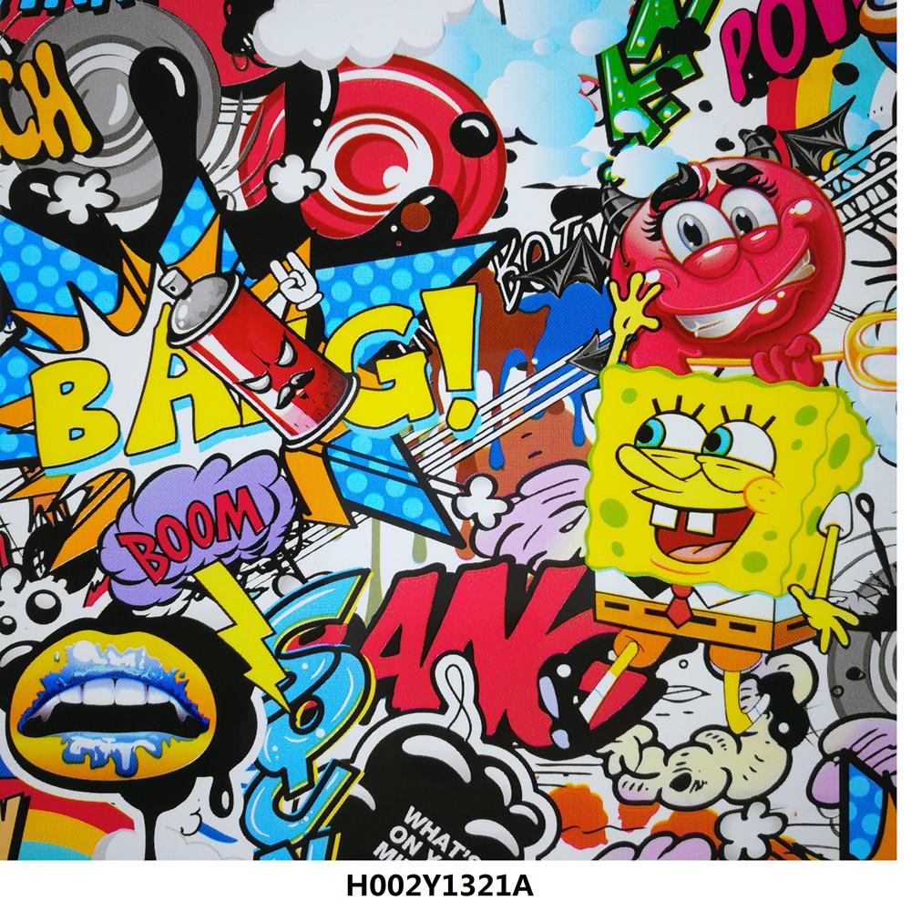 Kartun spons stiker bom hidrografi film untuk x box no h002y1321a