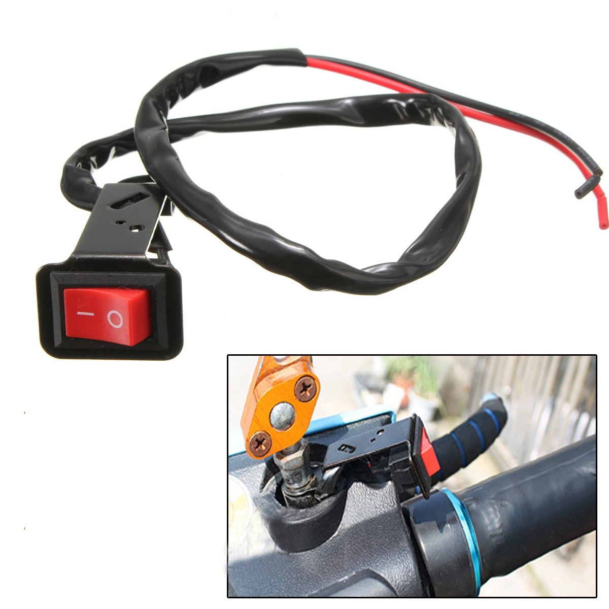 Light Fog Light Motorbike Wiring Loom Harness Kit With On Off Switch